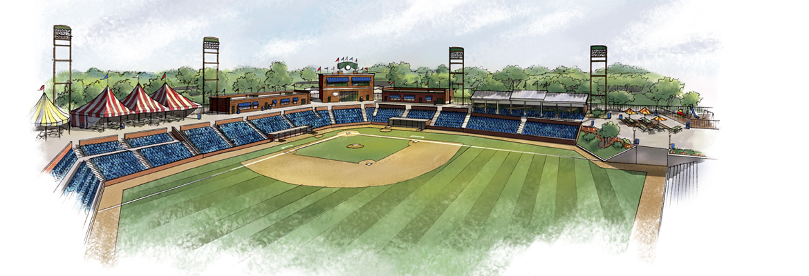 Color Rendering of Baseball Stadium