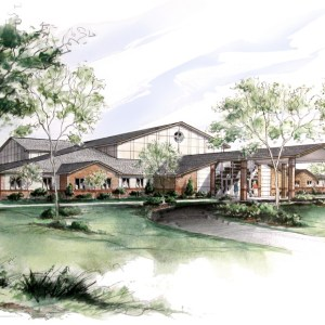 Watercolor Rendering of Church New Construction