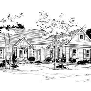 Line Drawing of Parade of Homes Residence