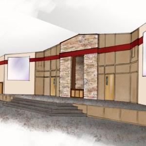 Preliminary Sketch for Sanctuary Podium Design