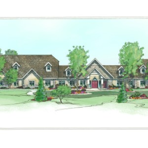 Full Color Rendering of Assisted Living Facility Facade