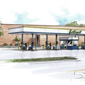Concept Sketch for Proposed Fuel Station