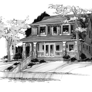 Rendering of Remodeled Lake House