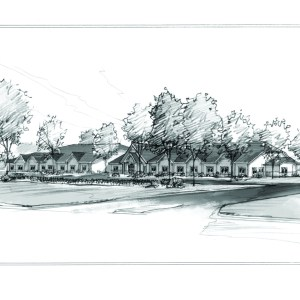 Marker Sketch of Proposed Assisted Living Facility