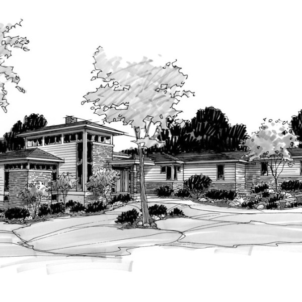 Marker Sketch of Parade of Homes Residence