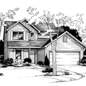 Line Illustration of Model Home