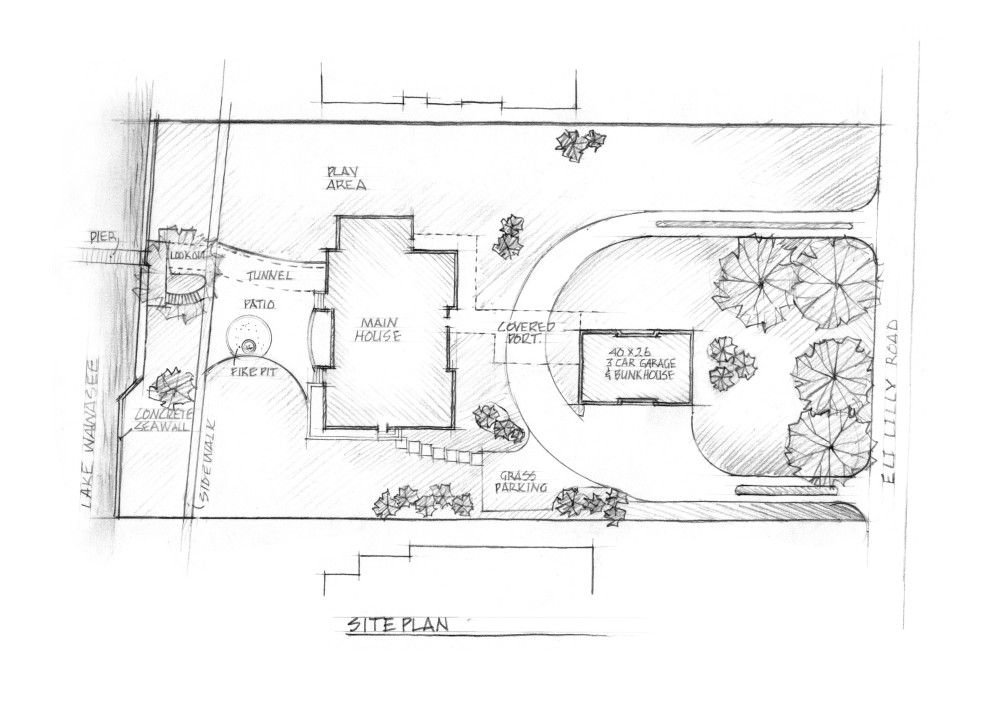 Aerial views and site plans holladay graphics scott for House plan websites