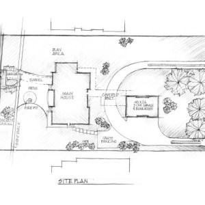 Preliminary Concept Sketch of Lake House Site Plan