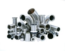 Sanitary fittings normally have mechanically polished interior surfaces and often polished exteriors as well