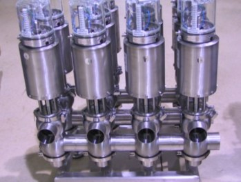 Picture of a Waukesha W60 Series Valve Manifold We Fabricated in our Shop
