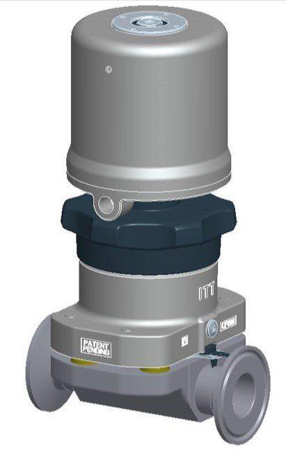 ITT Pure Flo Envizion Valve with a Pneumatic Actuator