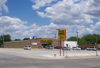Newly built Dollar General retail store in Forest City, IA.