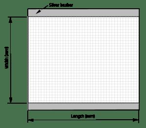Mesh foil silver busbar top bottom sheet style 4
