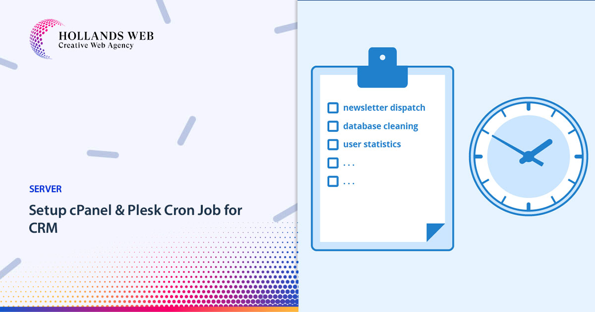 Setup cPanel & Plesk Cron Job for CRM