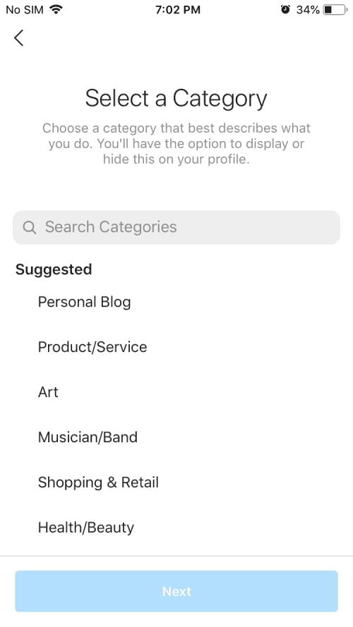 create business or creator Instagram accounts 4