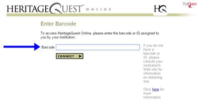Barcode screen
