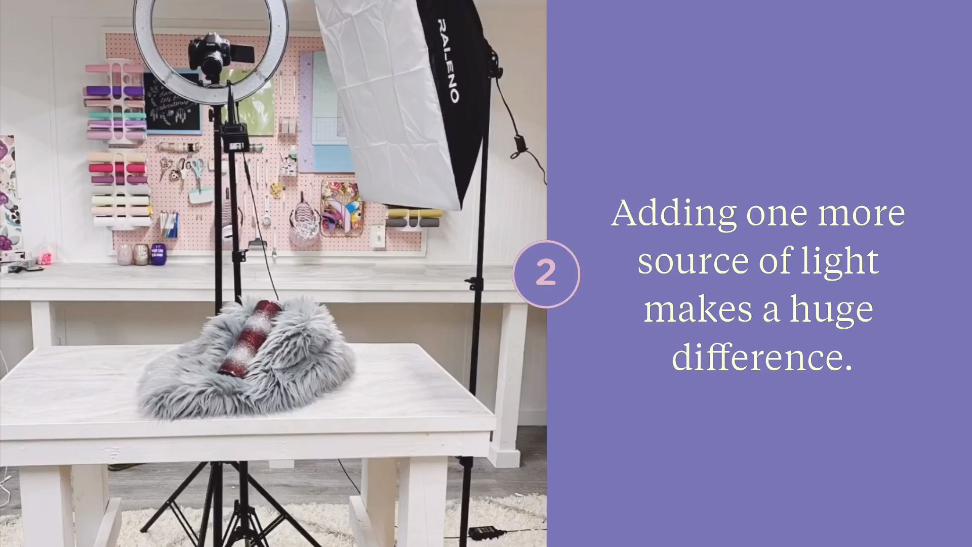 Use a ring light and softbox beginner lighting tips for photo and video