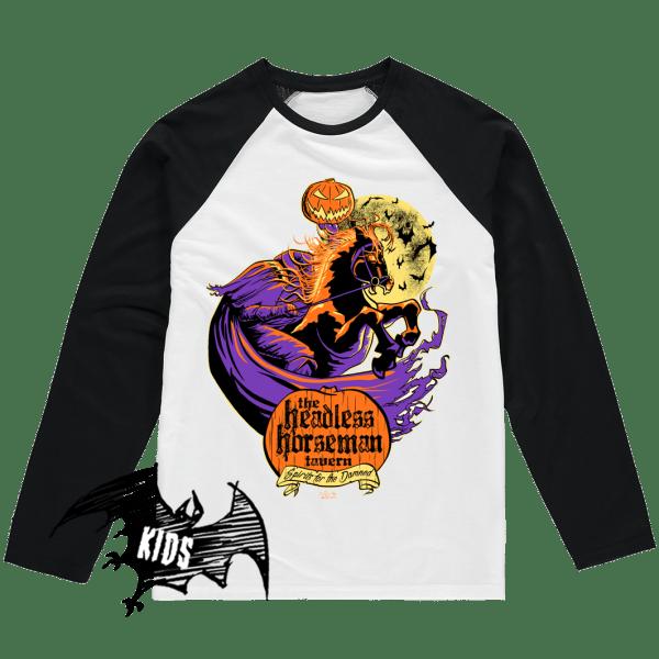 Headless Horseman Tavern Kids Baseball Shirt