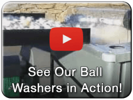 Commercial golf ball washer video