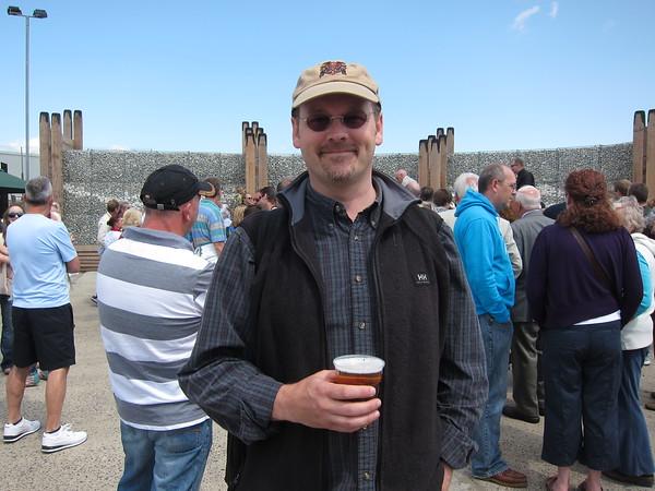 Happy Brad with his ale