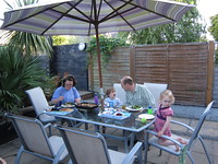 Family dinner in the garden