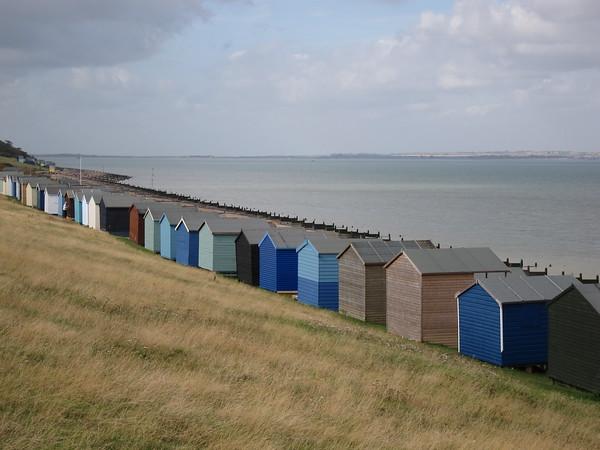 Beach huts on Tankerton slope