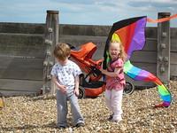 Flora loves the kite