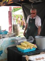 Fried spiral-cut potatoes were a big hit