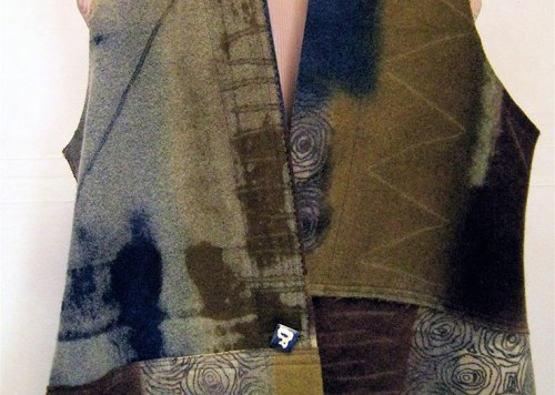 Olive Wool Patch Vest