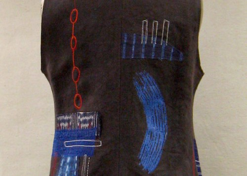 Deep Taupe Indigo Vest - Back