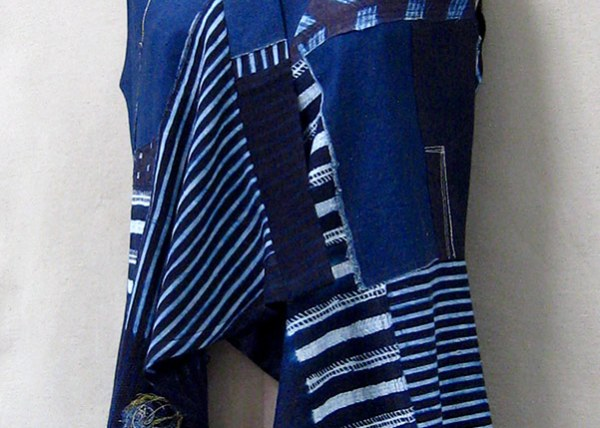 Indigo Cotton Vest - Front