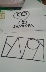 African symbol, Sankofa, and her logo for YNOT.