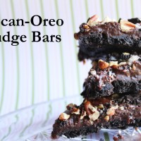 Pecan-Oreo Fudge Bars