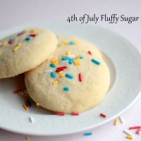 4th of July Fluffy Sugar Cookies