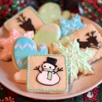Pastel Christmas Sugar Cookies