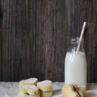 Cream Cheese Pound Cake-Chocolate Heart Sandwich Cookies