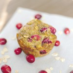 Oatmeal Banana Muffins with Cranberries
