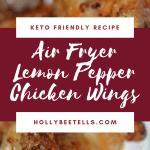 air fryer lemon pepper chicken wings