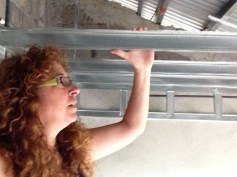 me helping in casita