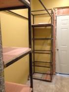 Laundry room temporary shelves!
