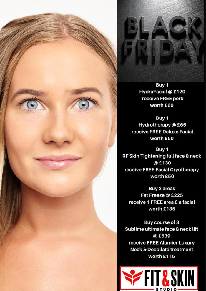 Black Friday Deals at Fit and Skin