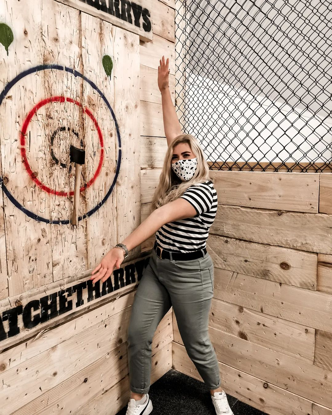 Holly showing off bullseye shot