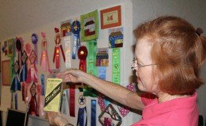 This Slim Flex looks like a great tool to mark even spacing for quilting.  And look at all of Susie's ribbons!