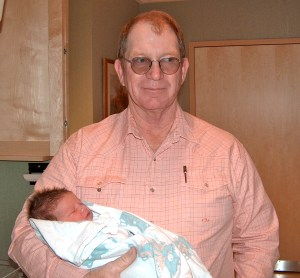 Bill and a new grandson - Penny's youngest!