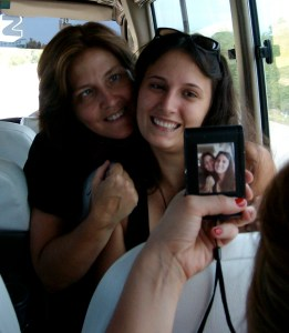 Jenni and Brittney (before selfies - you had to have someone take your picture!)