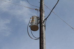 Then they installed the transformer....