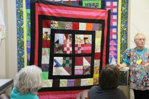 Another community service quilt to practice on - there is some great opportunity for ruler work here!