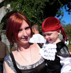 Momma's little Pirate at Rennaissance Faire