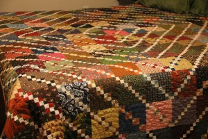 My finished quilt!  On my Bed!