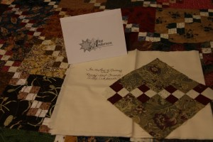 1 of the blocks Alex made - each participant in the swap received a block!